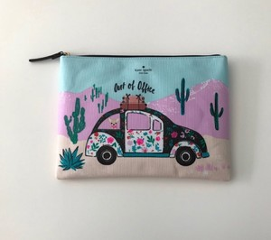 Kate Spade Dog Travel Makeup Pouch Gia Clutch