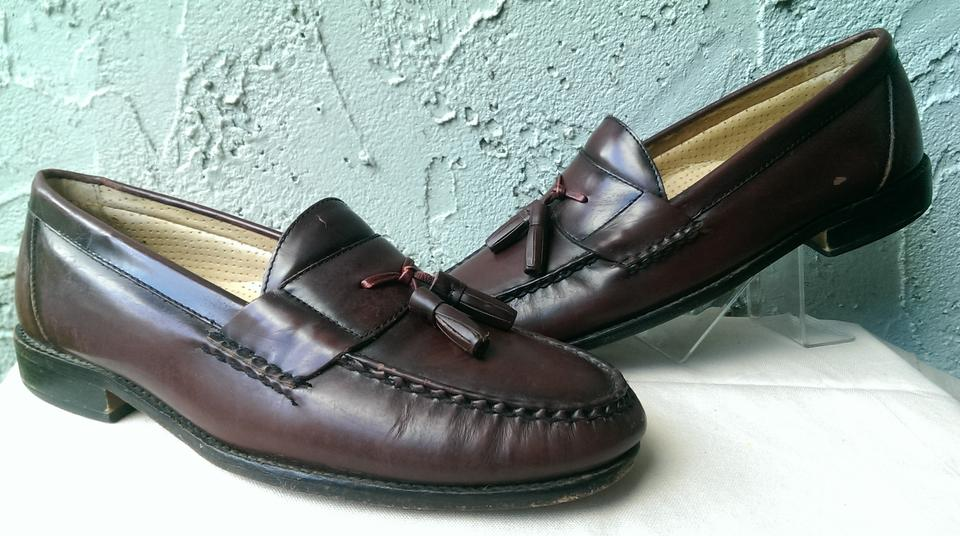 05844000169de G.H. Bass & Co. Brown Maroon Oxblood Brubeck Men's Tassel Dress Loafer  10.5d Shoes 72% off retail