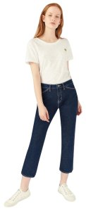 MiH Jeans The Cult Cropped Straight Leg Jeans-Dark Rinse
