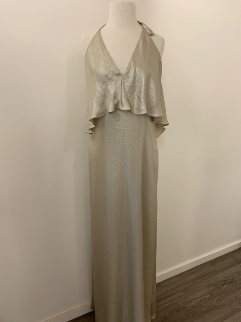 Amsale Metallic Flowy Dress Image 2