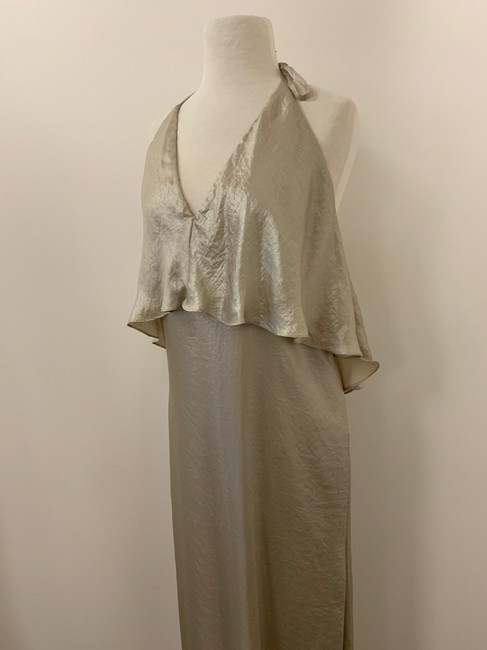 Amsale Metallic Flowy Dress Image 3