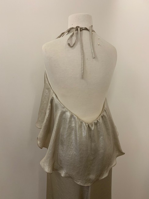 Amsale Metallic Flowy Dress Image 4