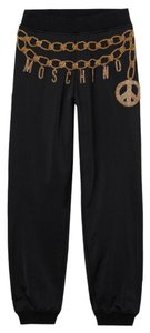MOSCHINO [tv] H&M Jogger With Gold Applique Women's Size 4