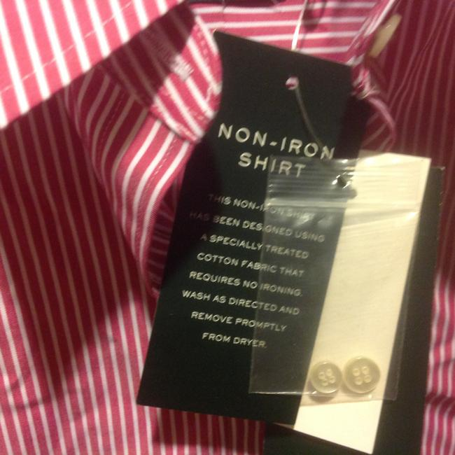 Lauren Ralph Lauren Long Sleeve New With Tags Button Down Shirt Red and white stripe Image 1