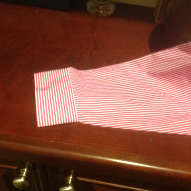 Lauren Ralph Lauren Long Sleeve New With Tags Button Down Shirt Red and white stripe Image 2