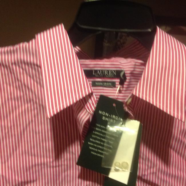 Lauren Ralph Lauren Long Sleeve New With Tags Button Down Shirt Red and white stripe Image 4