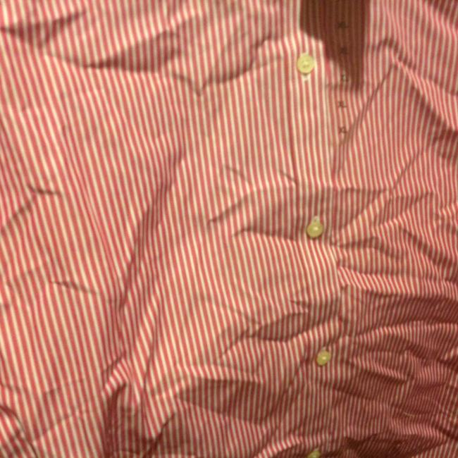Lauren Ralph Lauren Long Sleeve New With Tags Button Down Shirt Red and white stripe Image 7