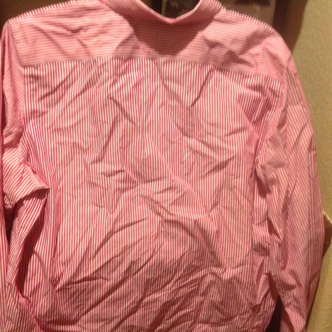Lauren Ralph Lauren Long Sleeve New With Tags Button Down Shirt Red and white stripe Image 8
