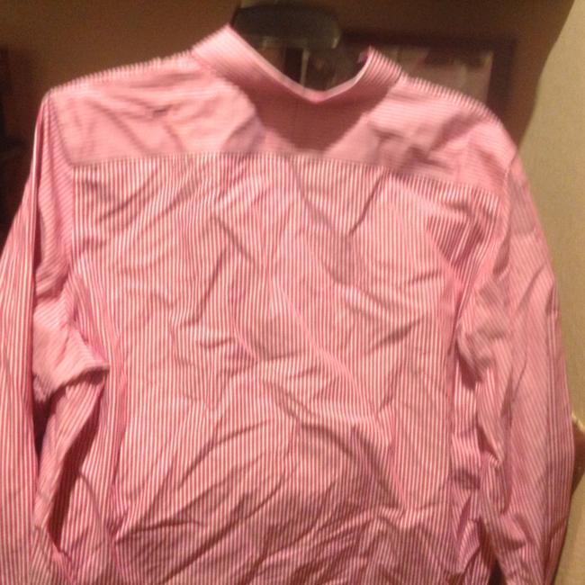 Lauren Ralph Lauren Long Sleeve New With Tags Button Down Shirt Red and white stripe Image 9