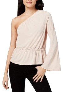 Rachel Roy One Shoulder Bell Sleeve Top Beige