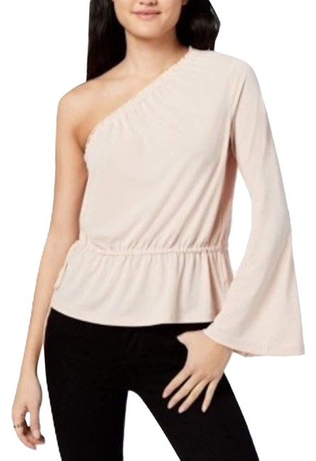 Rachel Roy One Shoulder Bell Sleeve Top Beige Image 0