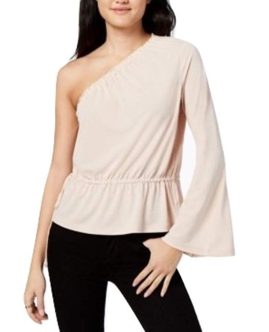 Rachel Roy One Shoulder Bell Sleeve Top Beige Image 2