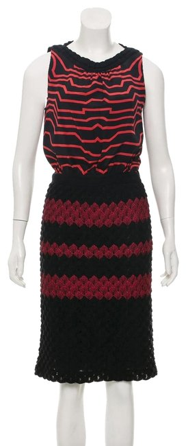 Preload https://img-static.tradesy.com/item/24321224/missoni-blackred-sleeveless-silk-and-wool-blend-short-casual-dress-size-2-xs-0-5-650-650.jpg