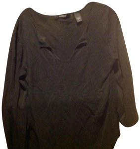 Express Color Like New Peasant Blouse Tiw On Neck Sweater