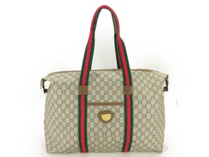 ddf8a6c44c7 Added to Shopping Bag. Gucci gray Travel Bag. Gucci Plus Duffle Tote Gray Canvas  Weekend Travel Bag