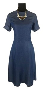 Banana Republic short dress Navy Tie-back Tencel Soft Fabric Short Sleeve on Tradesy