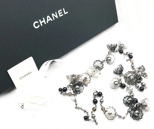 Chanel Chanel Rare Runway Resin Flower Stone Faux Pearl Long Necklace Image 1