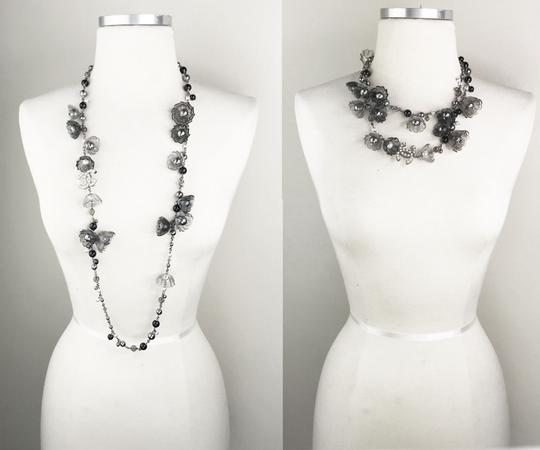 Chanel Chanel Rare Runway Resin Flower Stone Faux Pearl Long Necklace Image 2