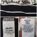 Michael Stars T Shirt navy blue and white Image 3