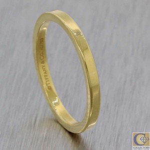 Tiffany & Co. Gold 18k 2mm Wide Classic Stacking Band Ring