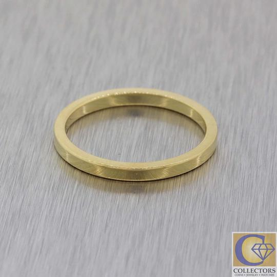 Tiffany & Co. Gold 18k 2mm Wide Classic Stacking Band Ring Image 1