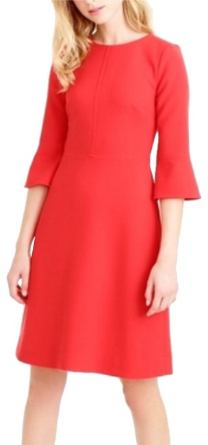 J.Crew Bell Sleeve A-line Lined Dress Image 1