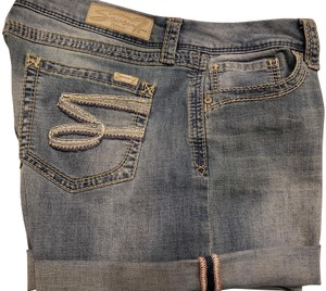 Seven7 Cuffed Shorts Blue Denim