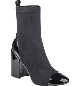 Marc Fisher Sugar Leather Zipper Vintage Leather Black Boots