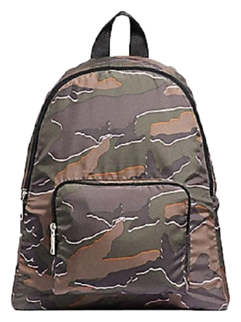 Item - Packable with Wild Camo Print Green Multi Nylon Backpack