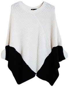 Maje Kassiope Colorblock Knit Cape Sweater