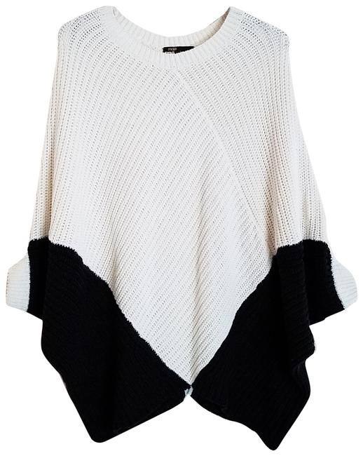 Preload https://img-static.tradesy.com/item/24321645/maje-kassiope-colorblock-chunky-knit-ivory-black-sweater-0-3-650-650.jpg