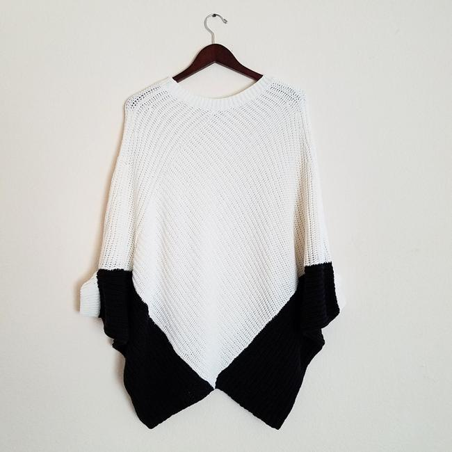 Maje Kassiope Colorblock Knit Cape Sweater Image 1