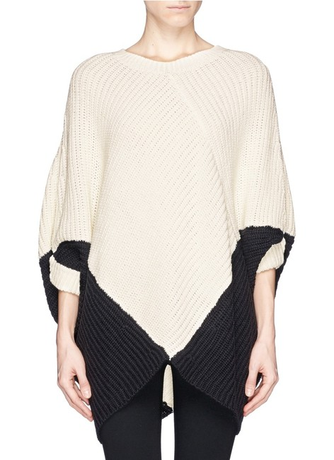 Maje Kassiope Colorblock Knit Cape Sweater Image 3