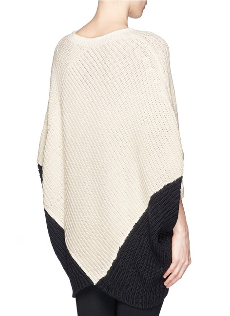 Maje Kassiope Colorblock Knit Cape Sweater Image 4