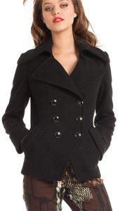 Trina Turk Fitted Wool Chic Pea Coat