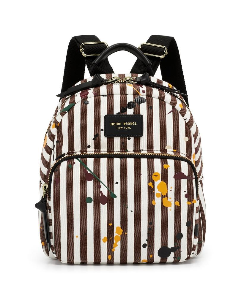 978807579fbc Henri Bendel Splatter Paint Multicolor Canvas Backpack - Tradesy