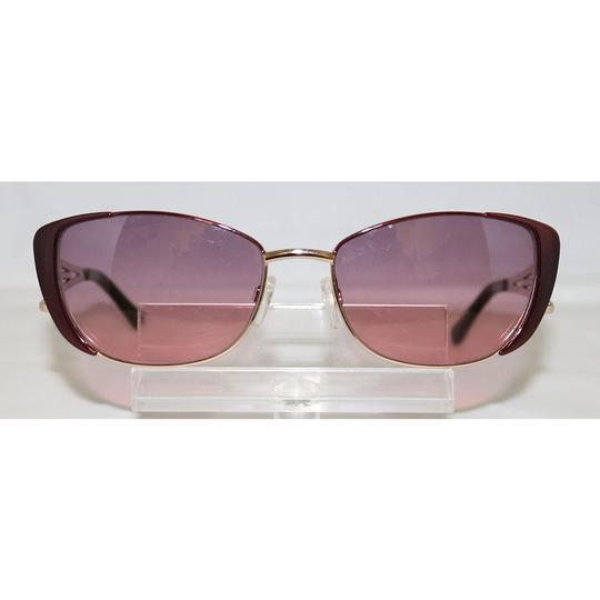 Diva New Diva Women's 4193 123 Burgundy & Gold Rectangle Sunglasses 56mm Image 1