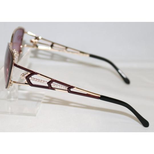 Diva New Diva Women's 4193 123 Burgundy & Gold Rectangle Sunglasses 56mm Image 2