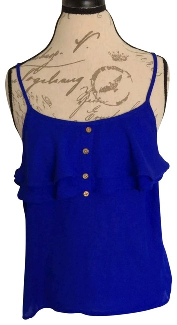 Preload https://img-static.tradesy.com/item/24321787/charlotte-russe-blue-womens-spaghetti-blouse-large-button-flowy-career-good-condition-no-stains-or-r-0-1-650-650.jpg