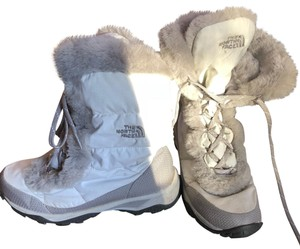The North Face white with grey trim Boots