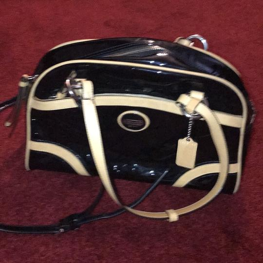 Coach Leather Two-tone Satchel in Black Image 1
