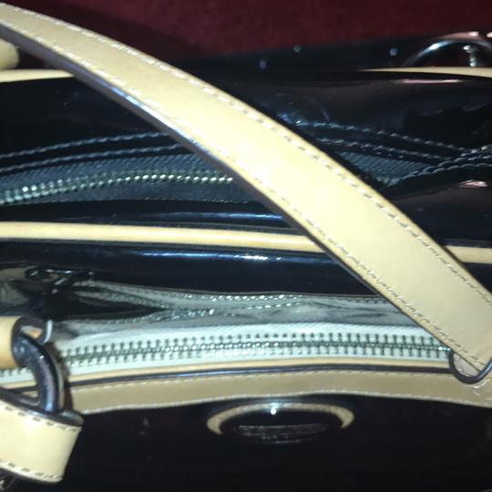 Coach Leather Two-tone Satchel in Black Image 10