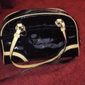 Coach Leather Two-tone Satchel in Black Image 4