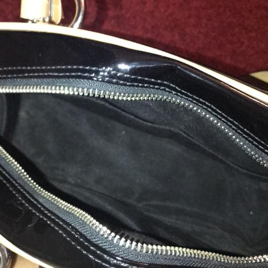 Coach Leather Two-tone Satchel in Black Image 5
