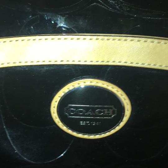 Coach Leather Two-tone Satchel in Black Image 6