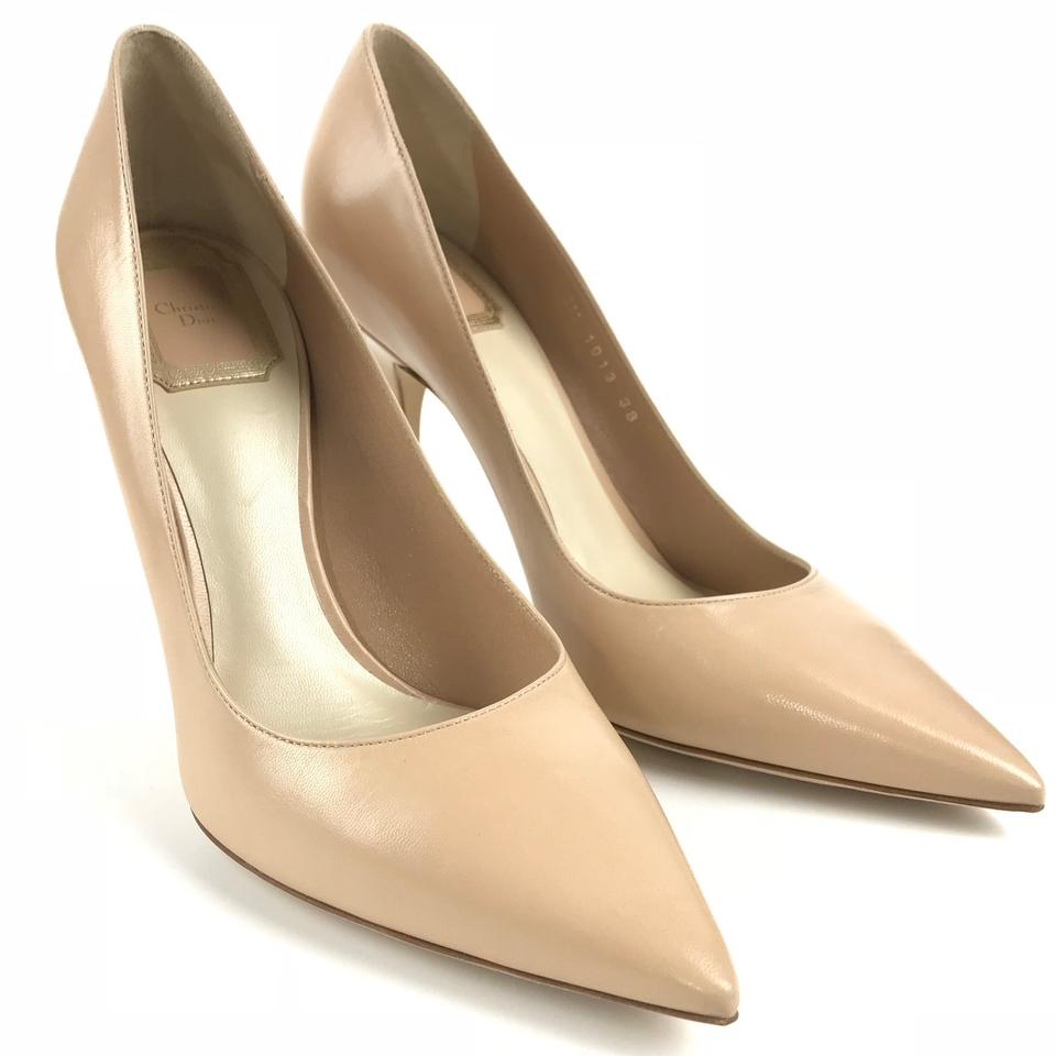 3ba792a4c45 Dior Nude New Cherie Leather Pointy 38 Us8 Pumps Size US 8 Regular ...