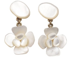 Chanel Chanel Rare Mother of Pearl Flower Dangle Piercing Earrings