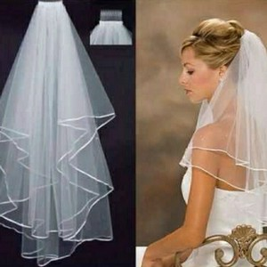"White Medium 20"" Bridal Veil"