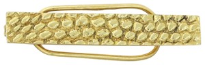 Cartier Vintage Estate Cartier Bar 18k Yellow Gold 17mmx8mm Wide Tie Clip
