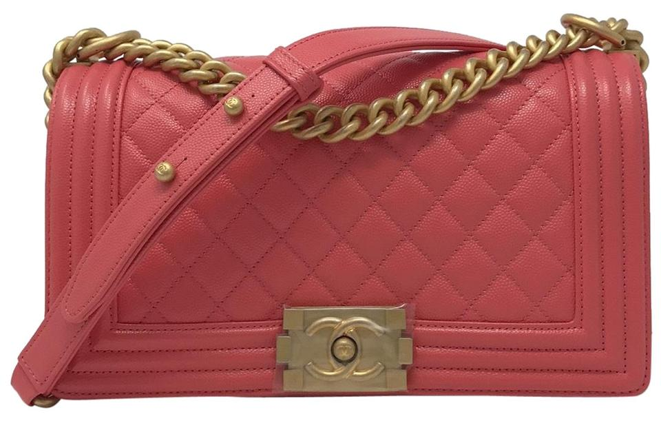 247ace3f583b Chanel Boy Medium Le 18s Pink Caviar Cross Body Bag - Tradesy
